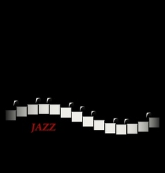 Jazz cafe concept Piano keyboard vector image