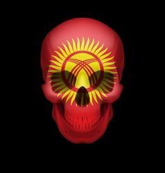 Kyrgyz flag skull vector