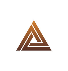 Luxury letter a logo triangle logo design concept vector