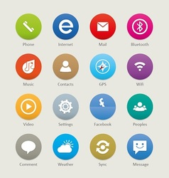 Mobile and tablet app icons 3 vector image