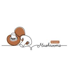 mushrooms brown champignon vector image