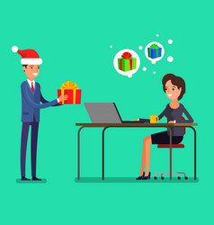 new year business concept vector image