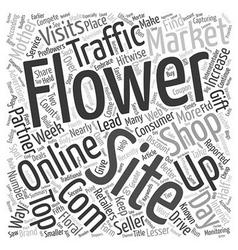 Online flower shops compete for web traffic vector