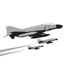 phantom jet fighters in the sky vector image