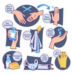 Protect yourself from virus wash hands and health vector