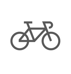 public navigation line icon bike vector image