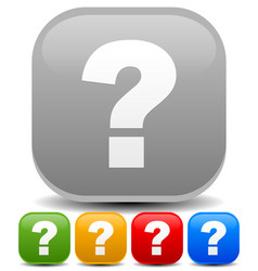 question mark icons riddle puzzle support vector image