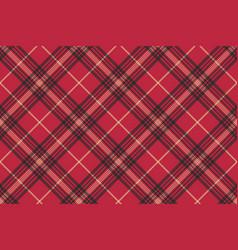 Red check plaid tartan seamless pattern vector