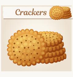 round crackers cookies vector image