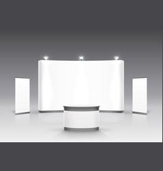 Scene show podium for presentations vector