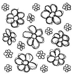 Scribble series - flowers vector