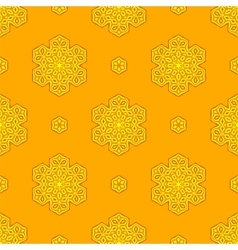 Seamless Creative Ornamental Yellow Pattern vector