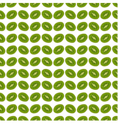 seamless pattern background kiwi vector image