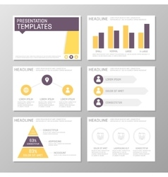 Set of purple and orange template for multipurpose vector
