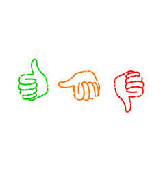 set of thumbs down stamps vector image