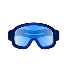 ski sport goggles in dark blue design vector image