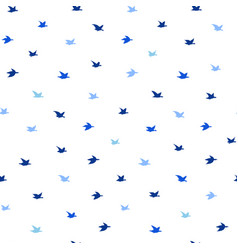 small swallow birds seamless pattern with birds vector image