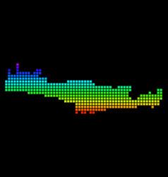 Spectrum pixel dotted crete island map vector