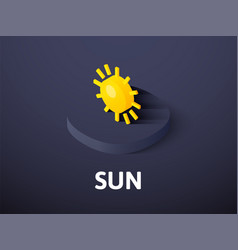 sun isometric icon isolated on color background vector image