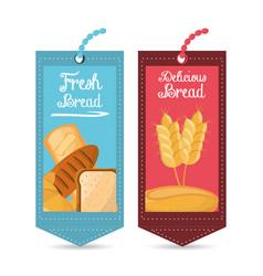 Tag price bread fresh delicious shop vector
