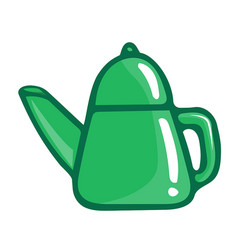 Tea kettle isolated vector