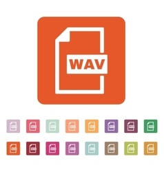 The WAV icon File audio format symbol Flat vector