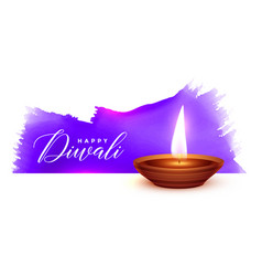 traditional diwali festival watercolor background vector image
