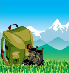 travel mountans vector image