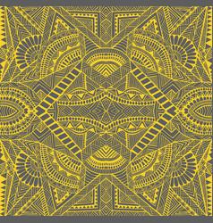 tribal kaleidoscope psychedelic geometric mandala vector image