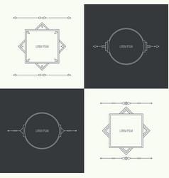 Vintage linear geometric frame vector