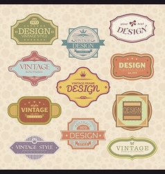 vintage style frames vector image