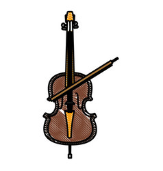 violin music instrument vector image