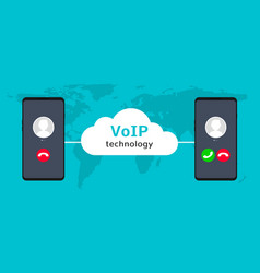 voip call system voice phone technology voice vector image