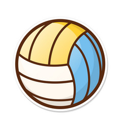 volleyball ball in crtoon style sports activity vector image