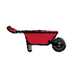 Wheelbarrow gardening tool vector