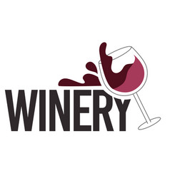 Winery alcohol bar or testing alcoholic beverage vector