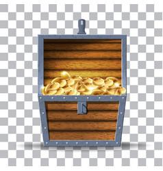Wooden chest vector