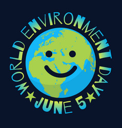 world environment day poster greeting text vector image