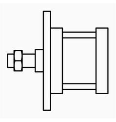 Yoke cylinder icon vector
