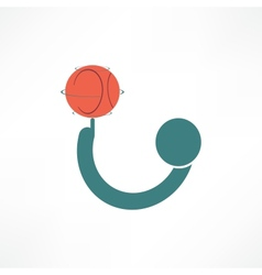 basketball player icon vector image
