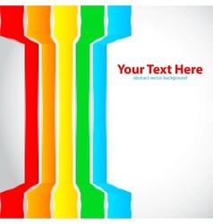 Rainbow lines vector image vector image