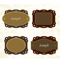 Vintage coffee and chocolate badges vector image vector image