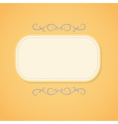 Abstract retro frame vector image vector image