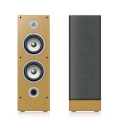 acoustic speakers vector image