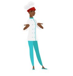 African confused chef cook shrugging shoulders vector