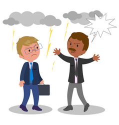 business people arguing vector image vector image