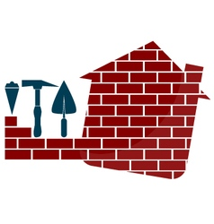 Construction houses emblem vector image vector image