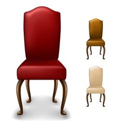 Elegant chair set vector image vector image