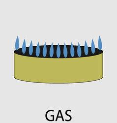 Gas icon flat design concept vector image