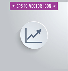 graph symbol icon on gray shaded background vector image